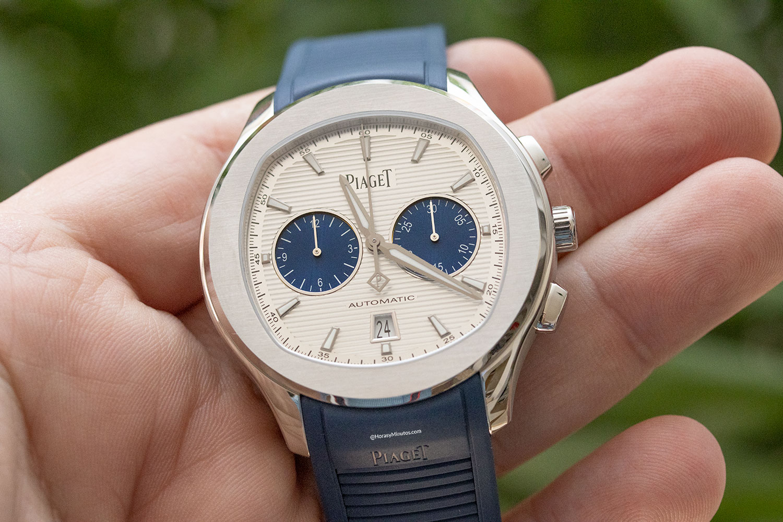 "La esfera del Piaget Polo Chronograph ""Blue Panda"""