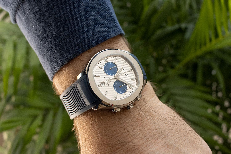 """En la muñeca: Piaget Polo Chronograph """"Blue Panda"""""""