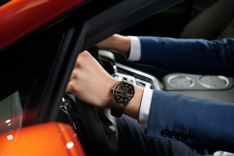 El Porsche Design Sport Chrono Subsecond marrón, en la muñeca