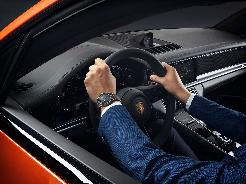 El Porsche Design Sport Chrono Subsecond negro, en el Panamera