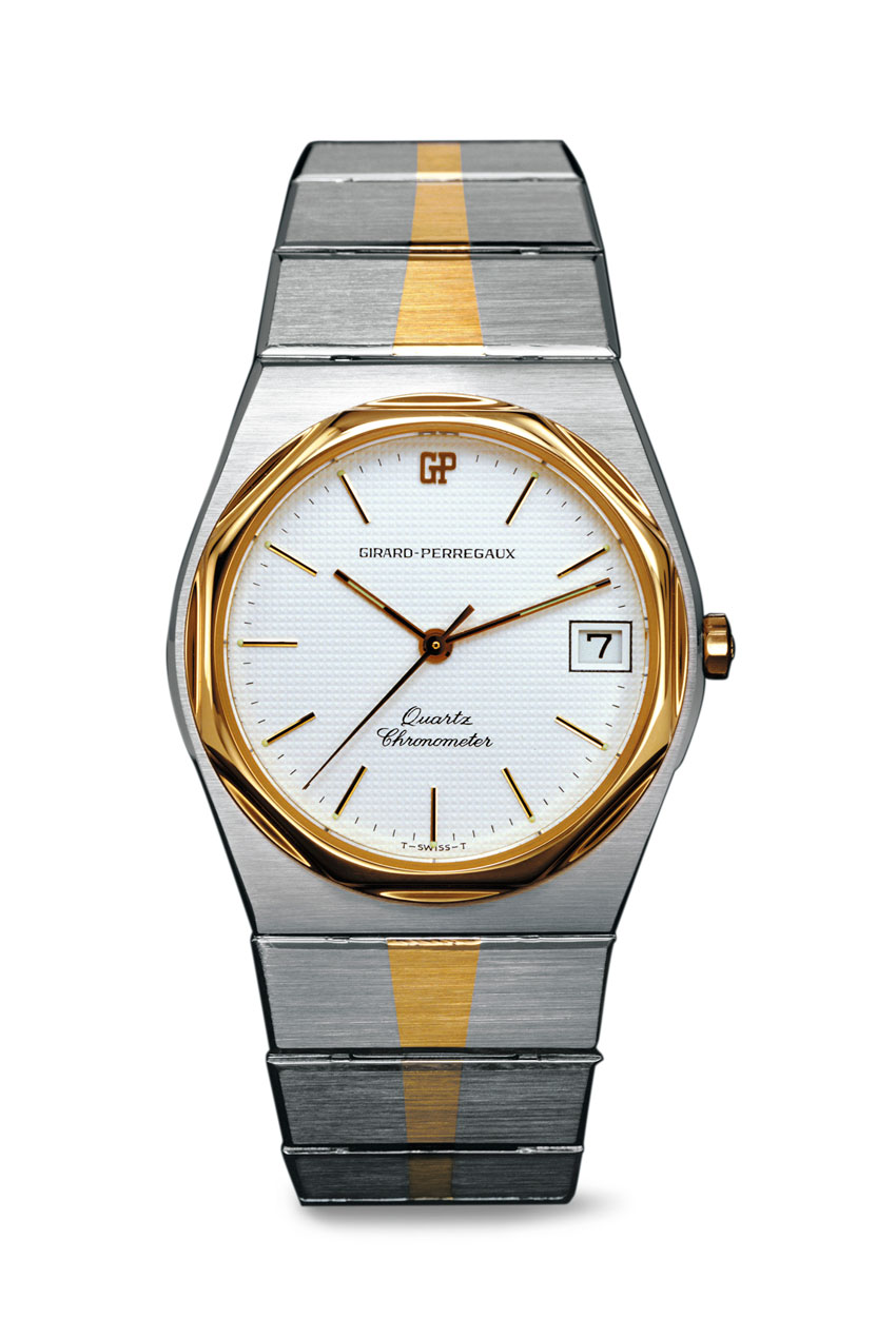 Pre-Baselworld-2016Girard-Perregaux-Laureato-1975-cuarzo-Horas-y-Minutos