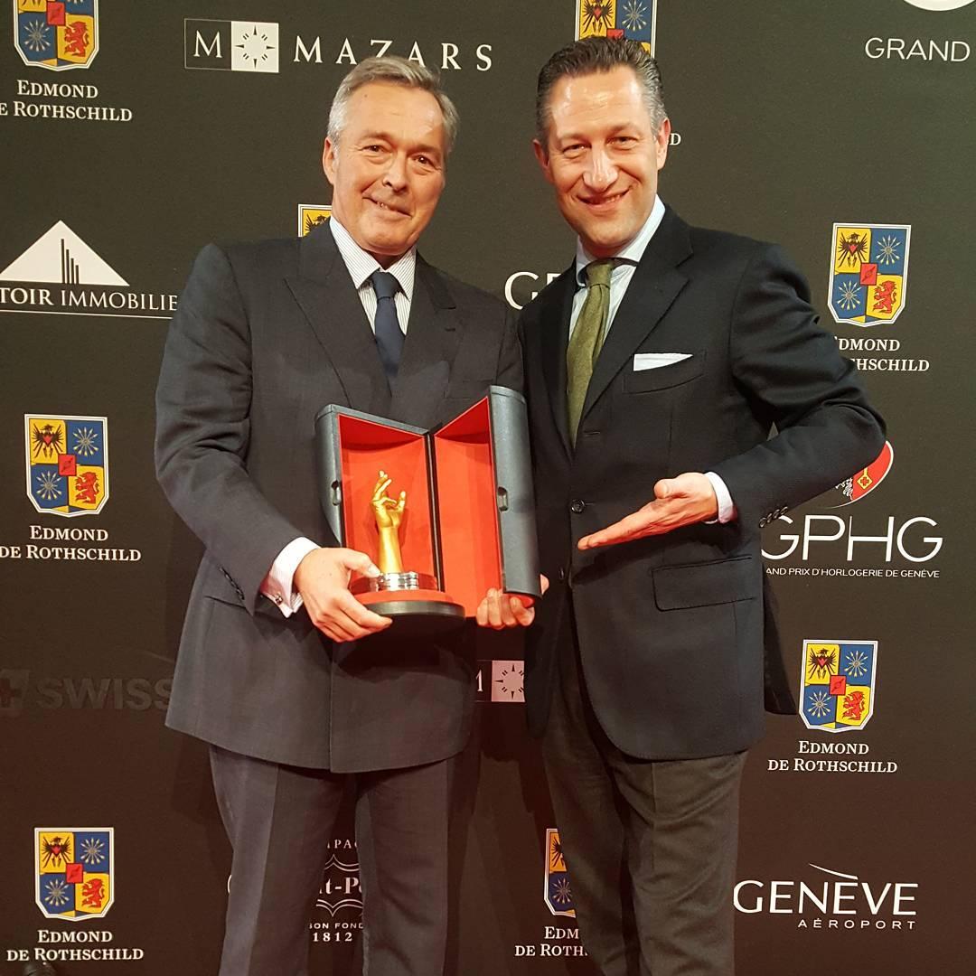 Karl-Friedrich Scheufele recogiendo su premio