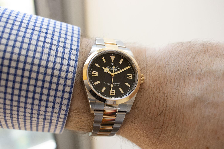El Rolex Explorer 36 mm 124273, puesto