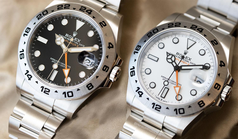 Los dos Rolex Explorer II 226570 2021