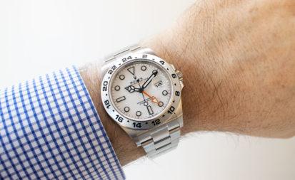 Así queda el Rolex Explorer II 226570 2021 de esfera blanca