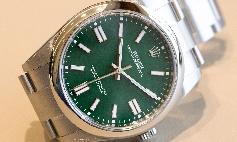 Esfera del Rolex Oyster Perpetual 41 mm 2020 Referencia 124300 verde