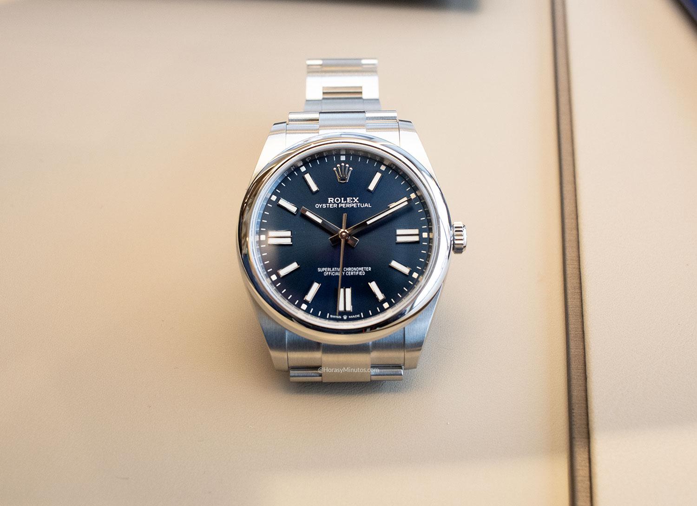 El Rolex Oyster Perpetual 41 mm 2020 Referencia 124300 azul