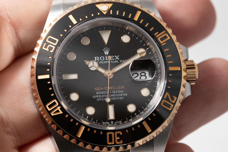 Esfera del Rolex Sea-Dweller Rolesor