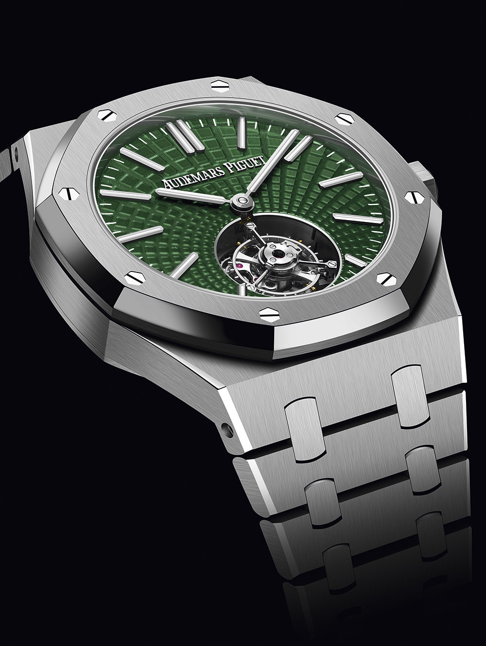 Royal Oak Verde Tourbillon Volante en titanio