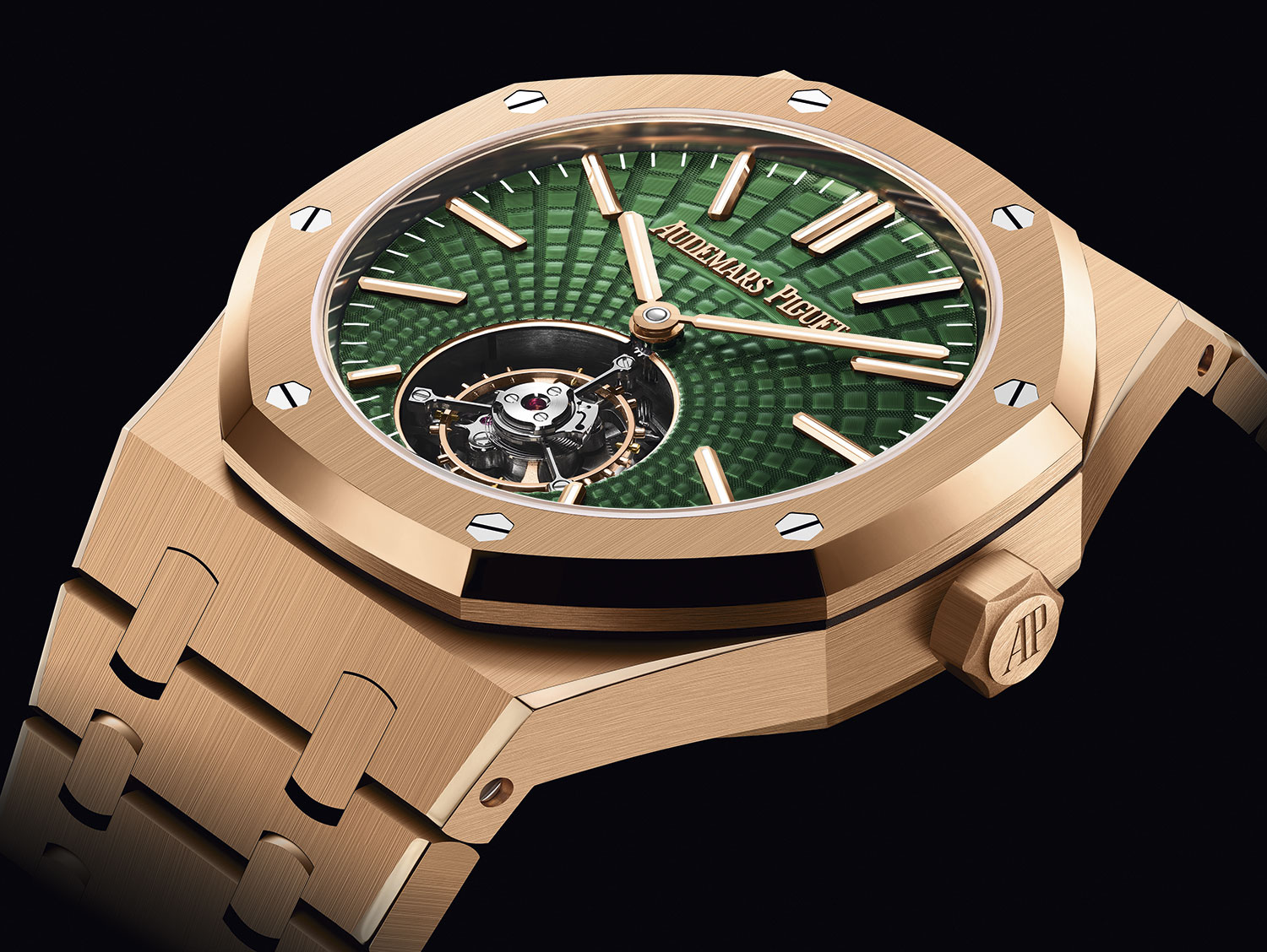 Royal Oak Verde Tourbillon Volante en oro rosa