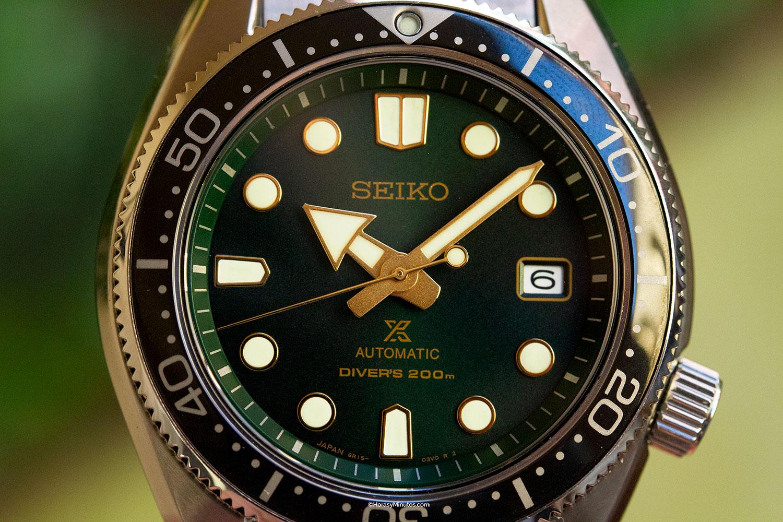 Esfera del Seiko Dark Green Sunset