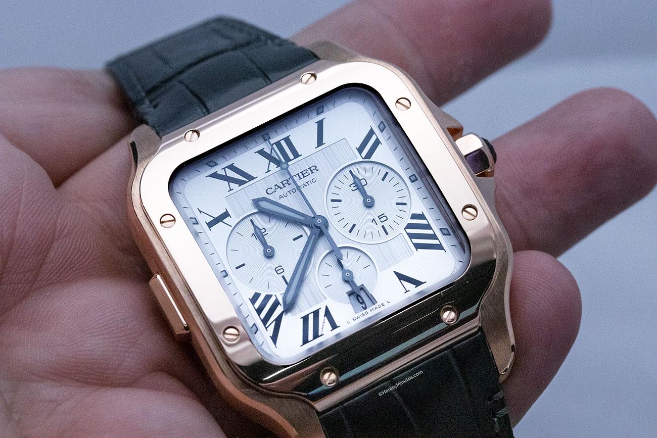reloj cartier santos 100 chronograph