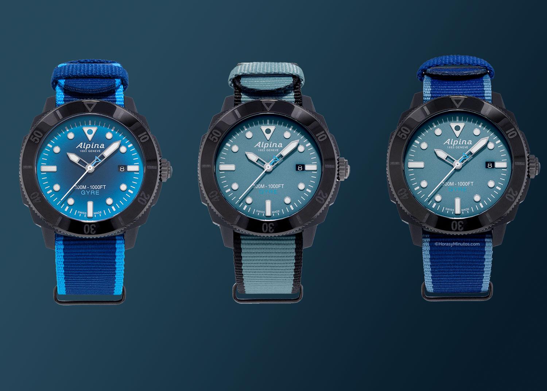 Tres correas para el Seastrong Diver Gyre Automatic