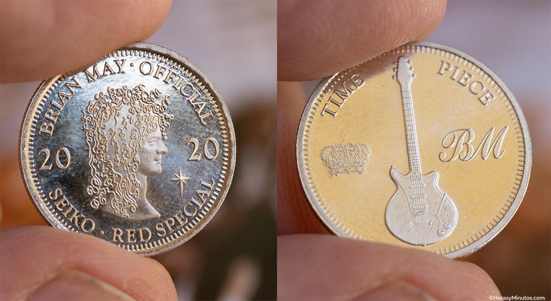 Moneda conmemorativa del Seiko 5 Sports Brian May Limited Edition