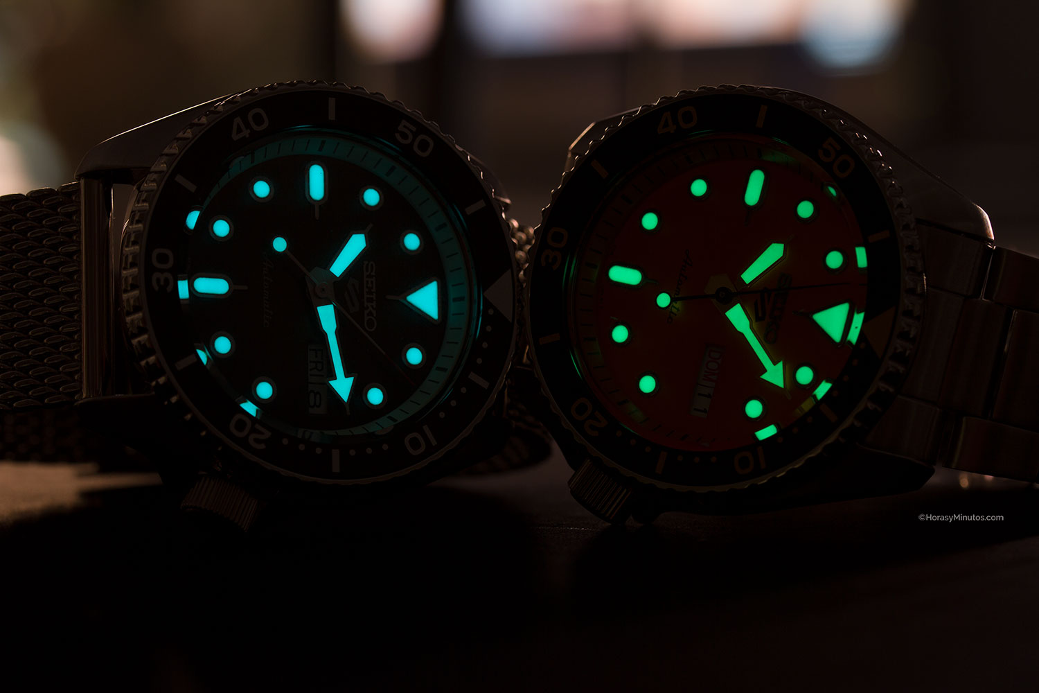 LumiBrite de los Seiko 5 Sports
