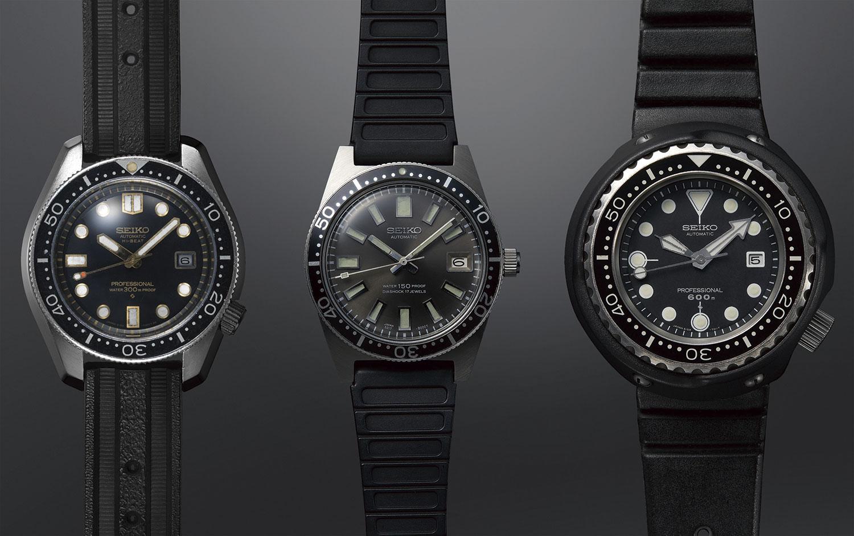 Seiko Diver's 55th Anniversary Trilogy Los modelos originales