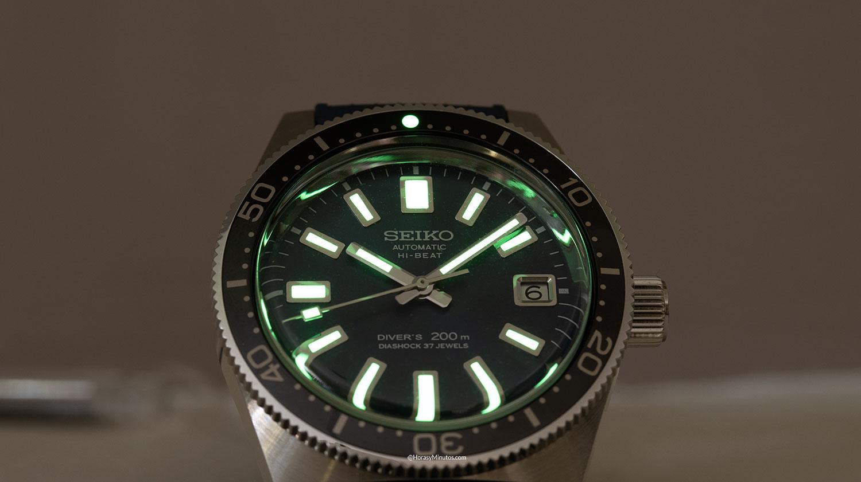 El LumiBrite del Seiko Diver's 55th Anniversary SLA037
