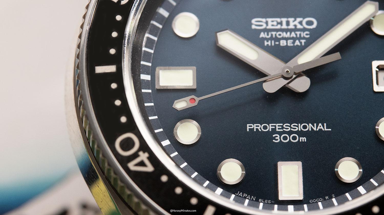 Detalle del Seiko Diver's 55th Anniversary SLA039