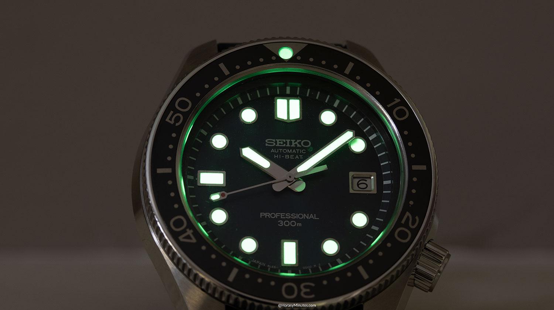La potencia del LumiBrite del Seiko Diver's 55th Anniversary SLA039