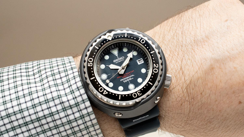Así queda el Seiko Diver's 55th Anniversary SLA041