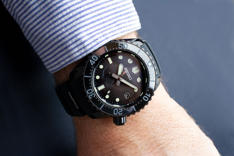 Seiko Prospex LX Mar negro, puesto