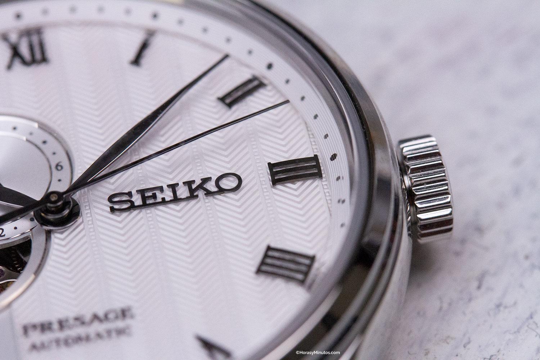 Detalle de la esfera del Seiko Presage