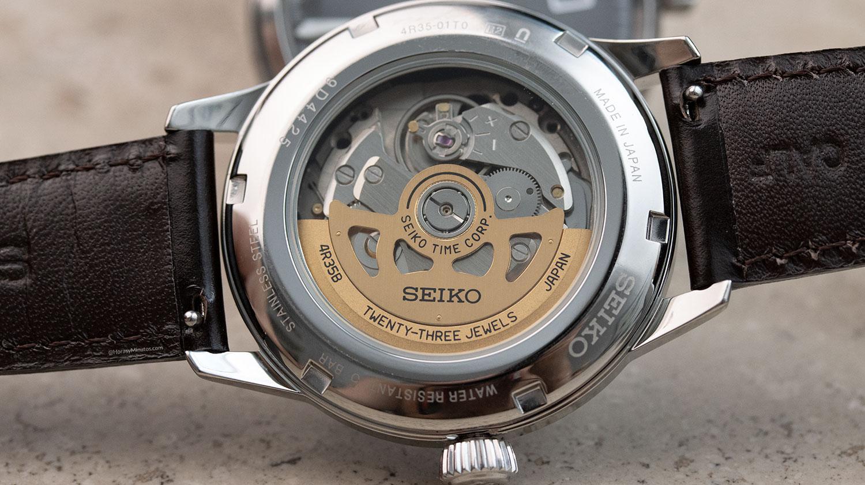 Calibre 4R del Seiko Presage SRPE15J1 Mockingbird