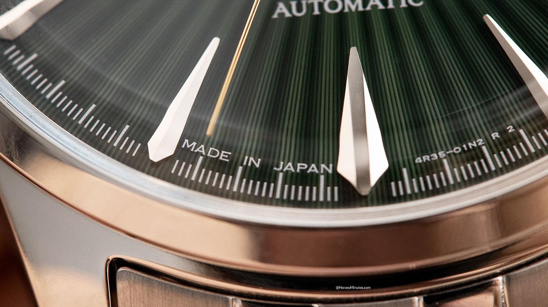 Detalle del Seiko Presage SRPE15J1 Mockingbird