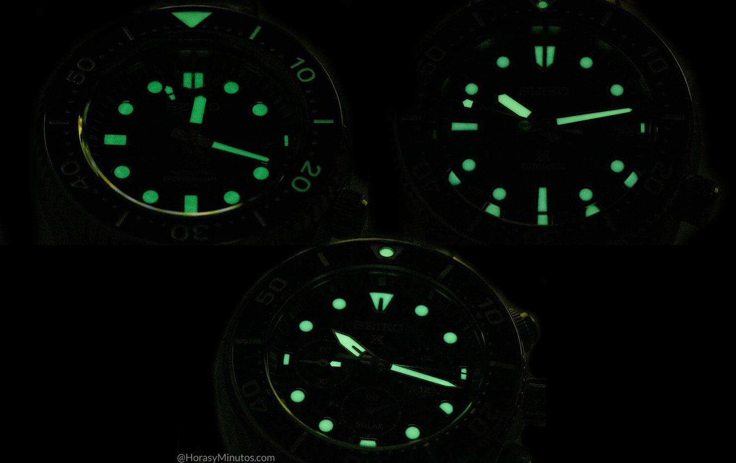 LumiBrite en los Seiko Prospex 140 Aniversario