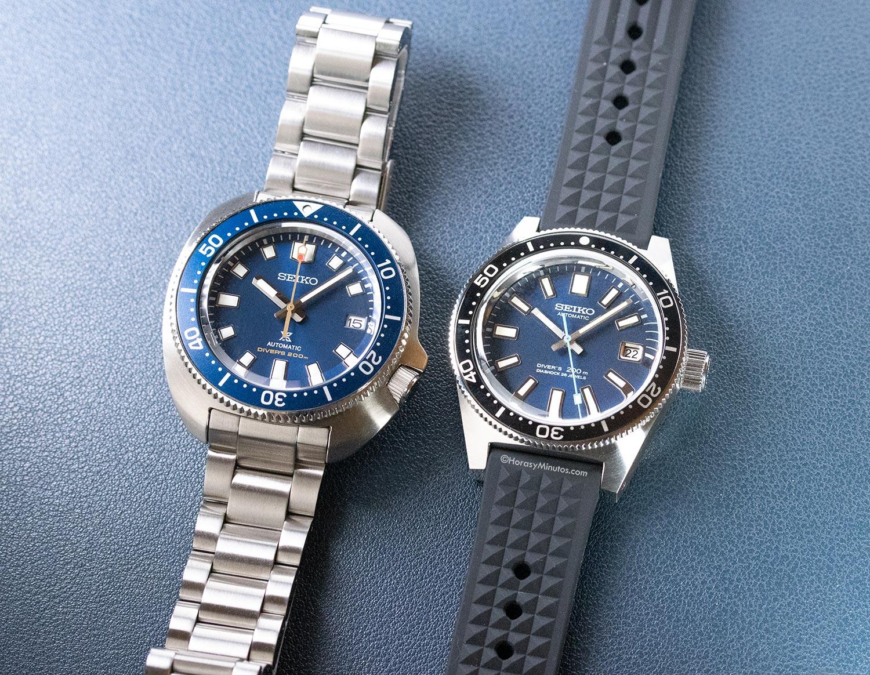 Seiko Prospex Diver 55 Aniversario SLA043J1 y SPB183J1