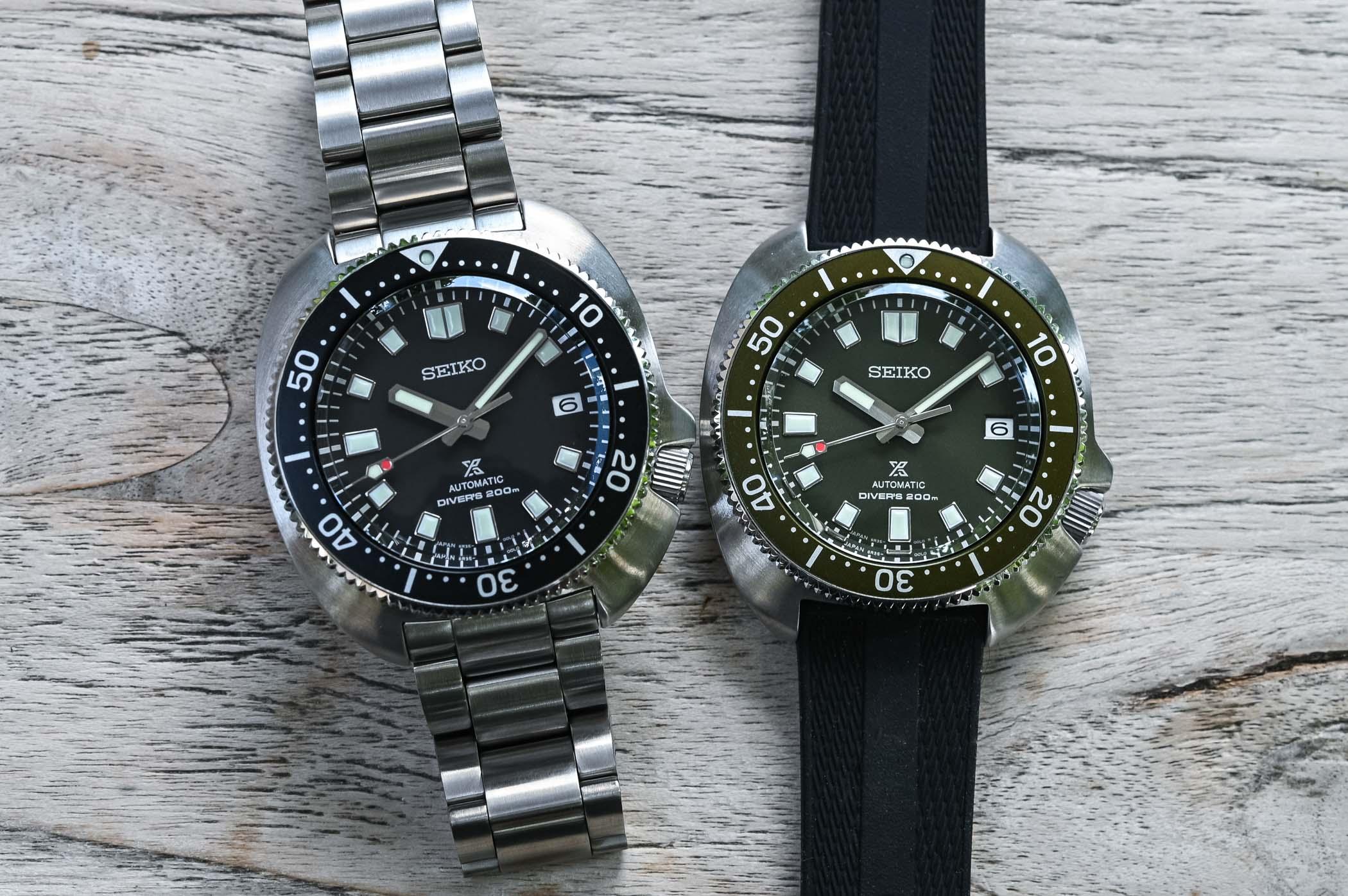 Los dos Seiko Prospex Diver Captain Willard SPB151 y SPB153