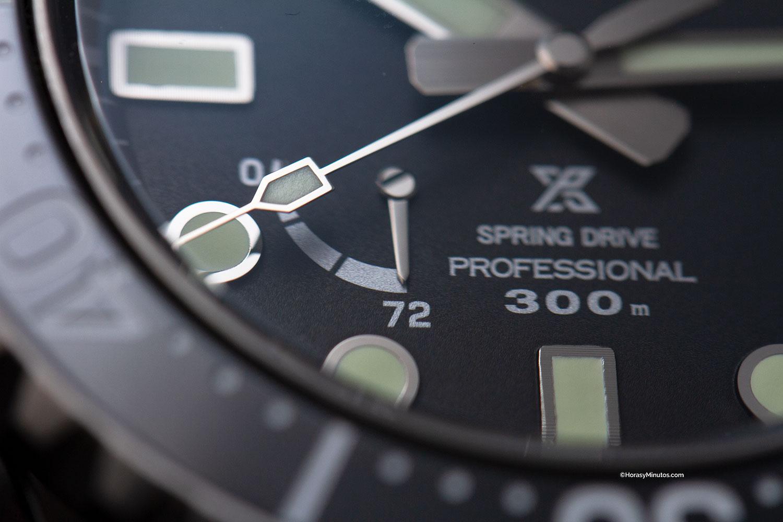 Detalle del segundero del Seiko Prospex LX