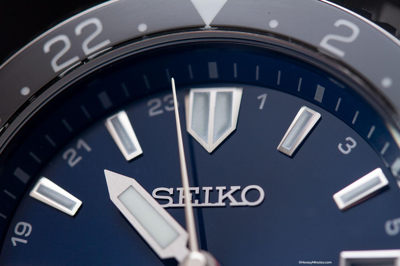 Detalle de los índices del Seiko Prospex LX GMT Air