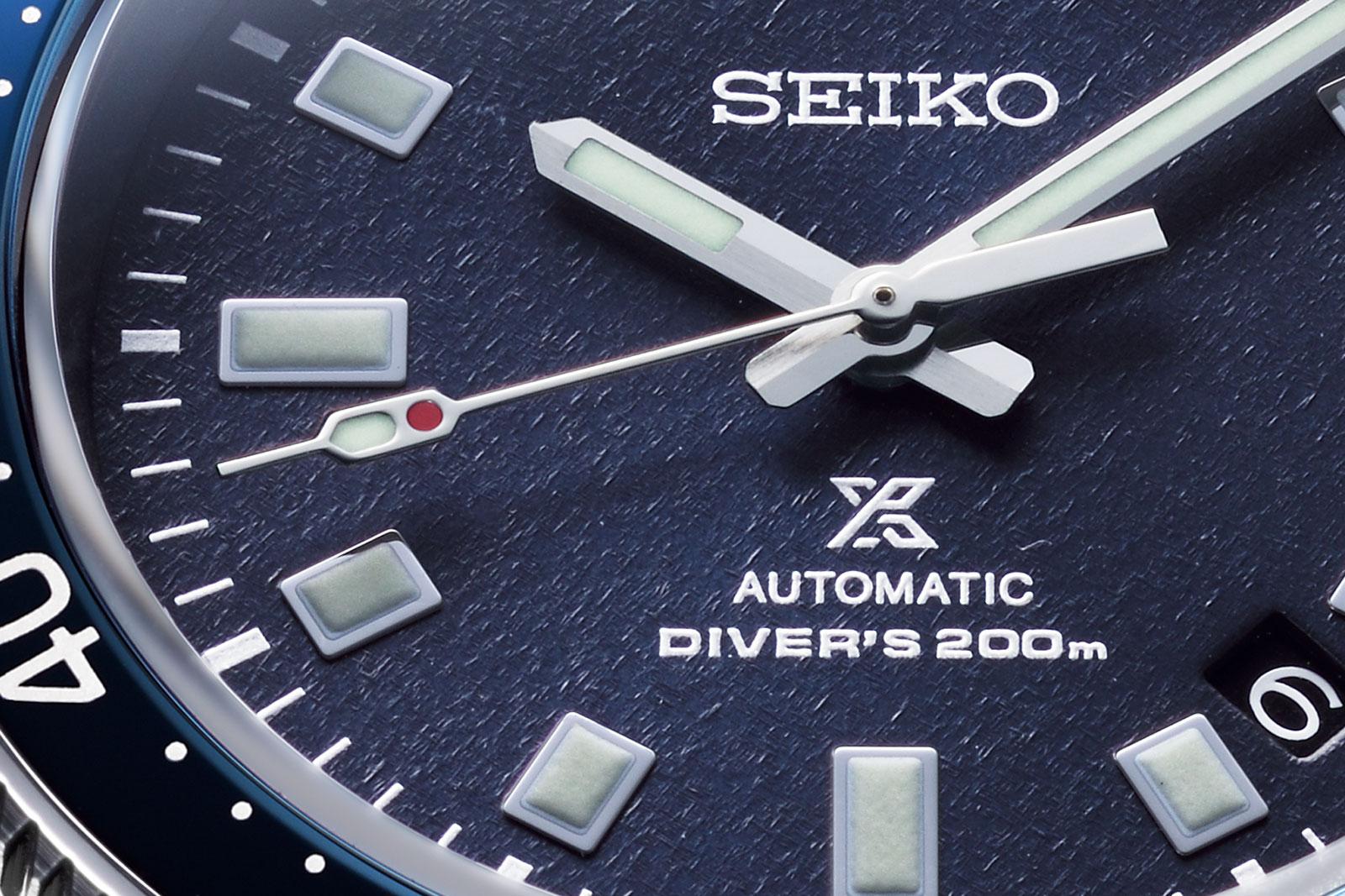 Detalle de la esfera del Seiko Prospex Naomi Uemura 80 Aniversario Limited Edition SLA049