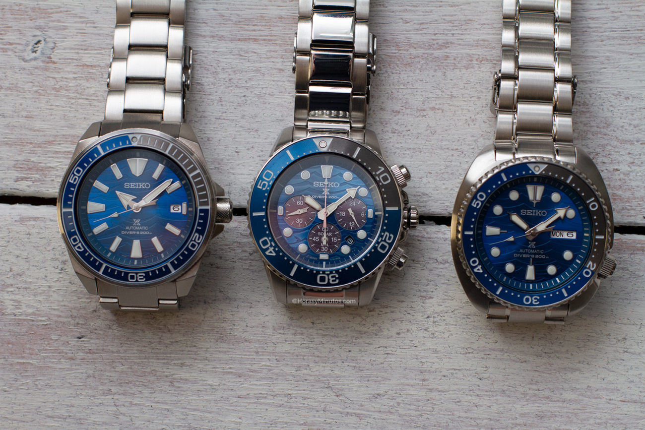 Otra vista de los Seiko Save The Ocean Special Edition