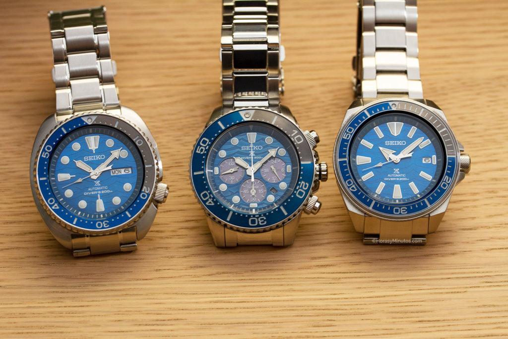 Los tres Seiko Save The Ocean Special Edition