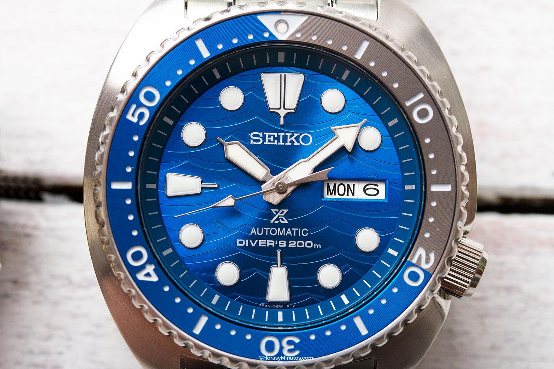 Esfera del Seiko Save The Ocean Special Edition SRPD21K1