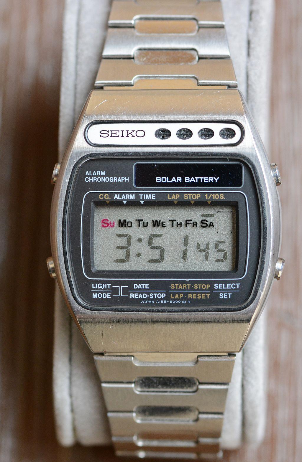 Seiko LCD Solar Alarm Chronograph A156-5000 de 1978