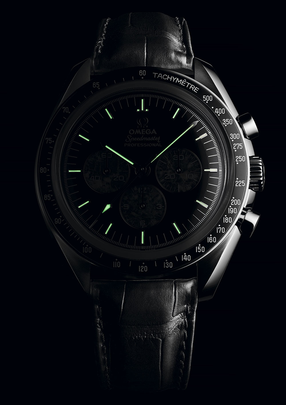 Super-LumiNova del Omega Speedmaster Moonwatch 321 Platinum