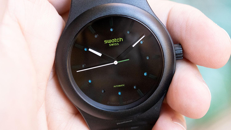Esfera del Swatch Sistem51 Ecológico negro