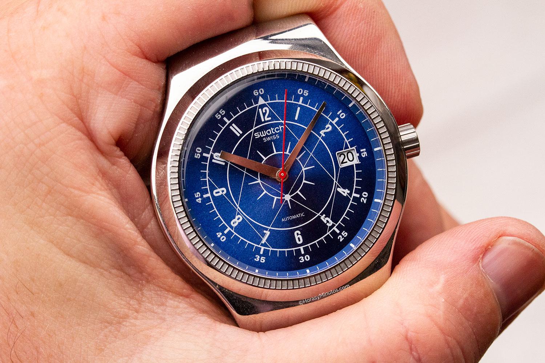 10 relojes mecánicos por menos de 1000 euros. Swatch Sistem51 Irony Boreal