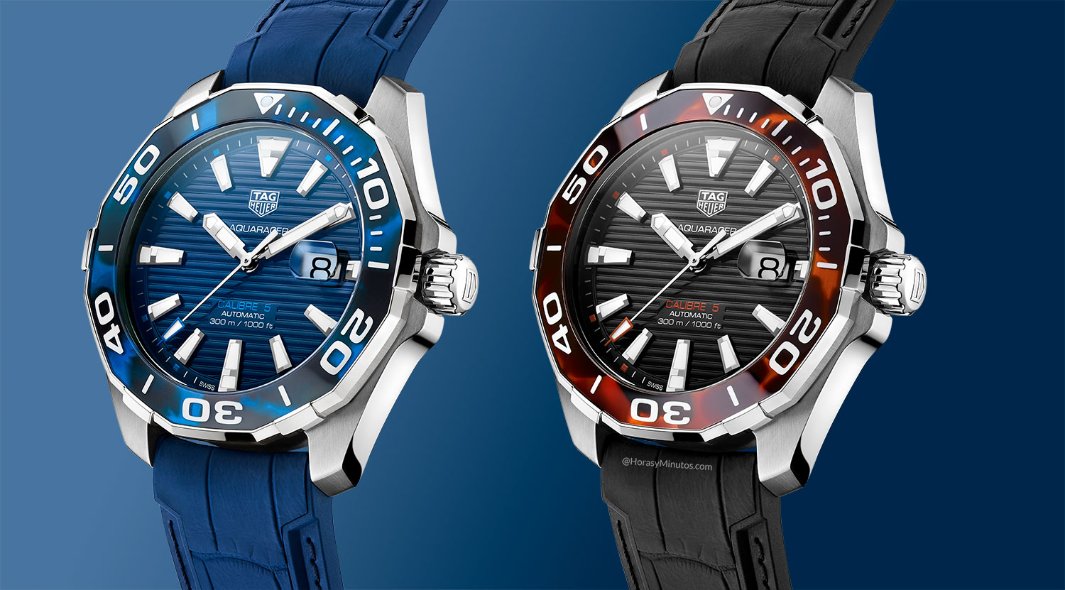 Los dos TAG Heuer Aquaracer Collection Carey