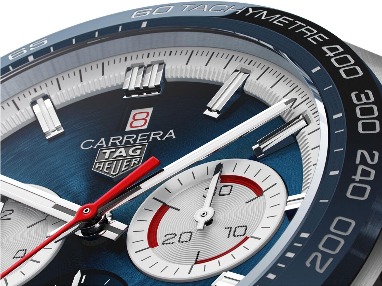 Detalle de la esfera del TAG Heuer Carrera 160 years Special Edition