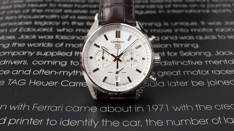 TAG Heuer Carrera Chronograph 42 mm plateado