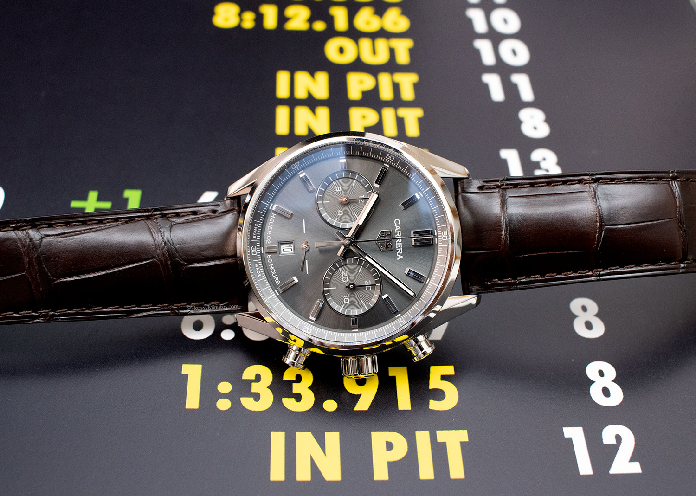 TAG Heuer Carrera Chronograph 42mm gris antracita