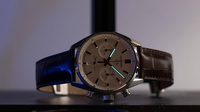 Super-LumiNova del TAG Heuer Carrera Chronograph 42mm