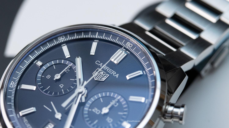 Índices del TAG Heuer Carrera Chronograph 42mm azul