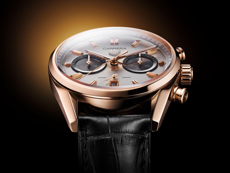 Otra imagen del TAG Heuer Carrera Chronograph Jack Heuer Birthday Gold Limited Edition