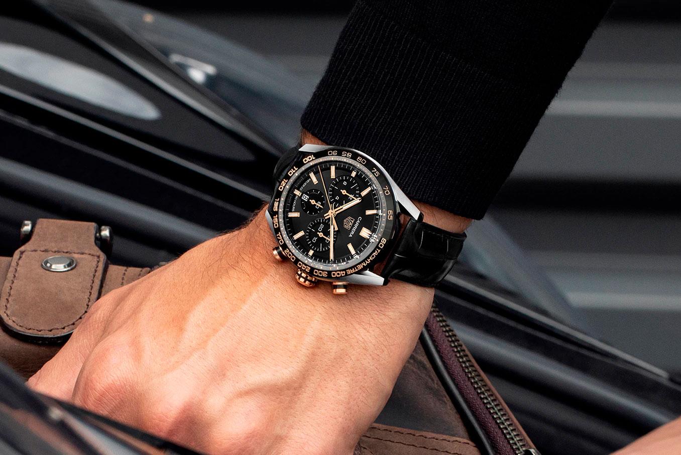 Así queda el TAG Heuer Carrera Sport Chronograph 44 mm negro y dorado