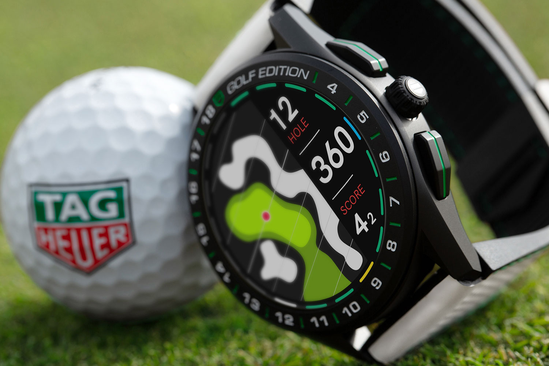 El TAG Heuer Connected Golf Edition, visto de cerca